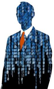 Businessman silhouette
