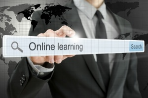 Online learning written in search bar