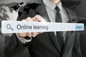 Online learning written in search bar