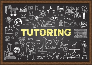Tutoring chalkboard